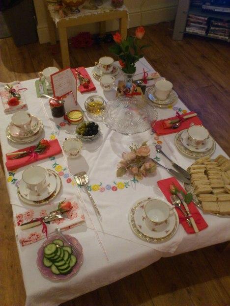 Sian Johnson tea party
